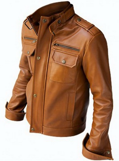 Mens retro leather jacket