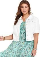 White Jean Jacket Plus Size