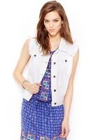 White Jean Jacket Vest