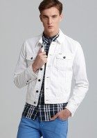 White Jean Jacket for Men