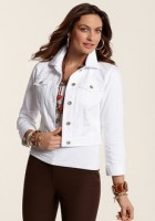 White Jean Jacket for women