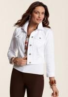 White Jean Jacket for women