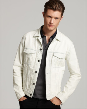 White Mens Denim Jacket | Jackets Review