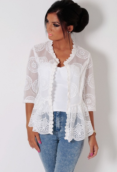 Product Features shawls,wedding jackets,bridal bolero Made of soft tulle,lace and pearls.