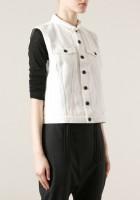 White Sleeveless Jean Jacket