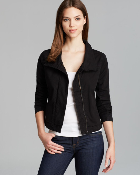 Black Jean Jacket For Women | Outdoor Jacket