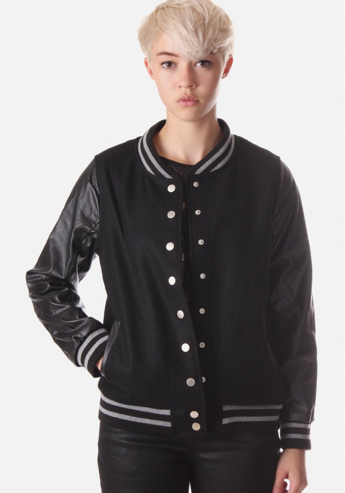 Womens Black Baseball Jacket | Outdoor Jacket