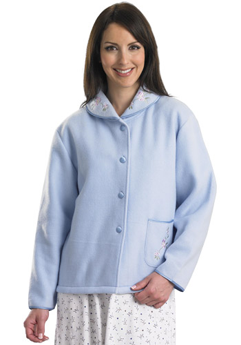 Cotton Bed Jacket Plus Size