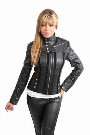 Womens biker style jacket