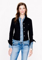 Womens Black Denim Jean Jacket