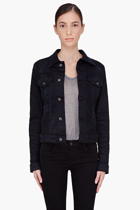 Ladies Black Denim Jacket