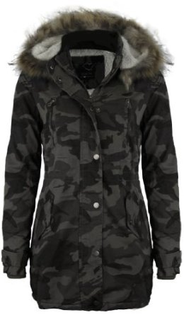 Womens Camo Jacket with Hood