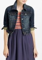 Womens Cropped Denim Jacket