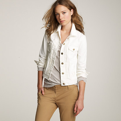 White Jean Jacket Vest - Pl Jackets