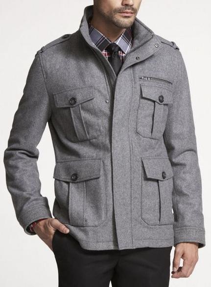 Mens Wool Military Jacket | Fit Jacket