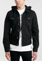 Black Denim Hooded Jacket