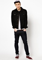Black Denim Jacket Outfit Men