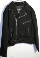 Black Denim Motorcycle Jacket