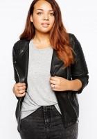 Black Leather Jacket Plus Size