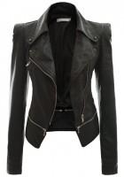 Black Leather Jacket Women