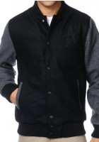 Black Mens Varsity Jacket