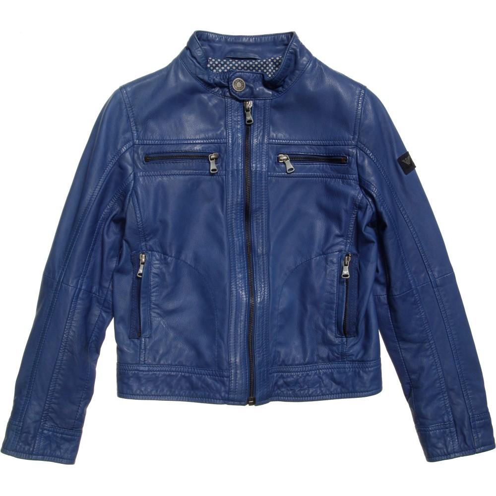 Leather jackets for kids - Blue Leather Jacket Kids