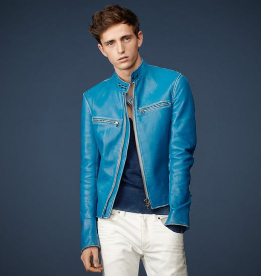blue leather jackets � jackets
