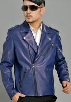 Blue Mens Leather Jacket