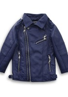 Blue leather Jacket for Boys