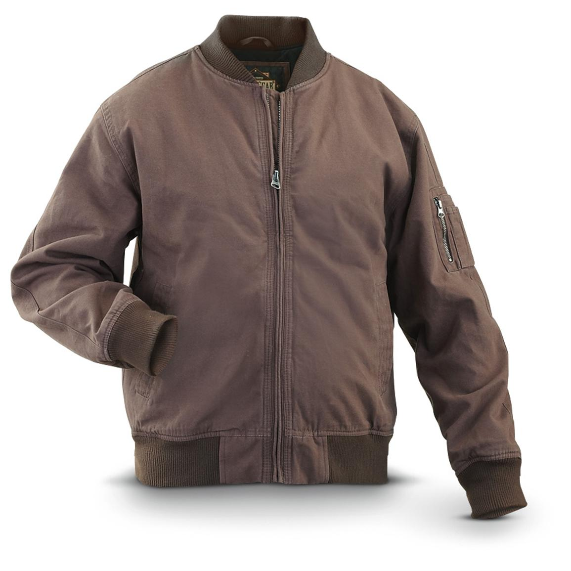 Brown Bomber Jackets Jackets