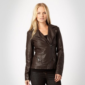 Collection Brown Faux Leather Jacket Pictures - The Fashions Of ...