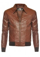 Brown Leather Jacket Mens
