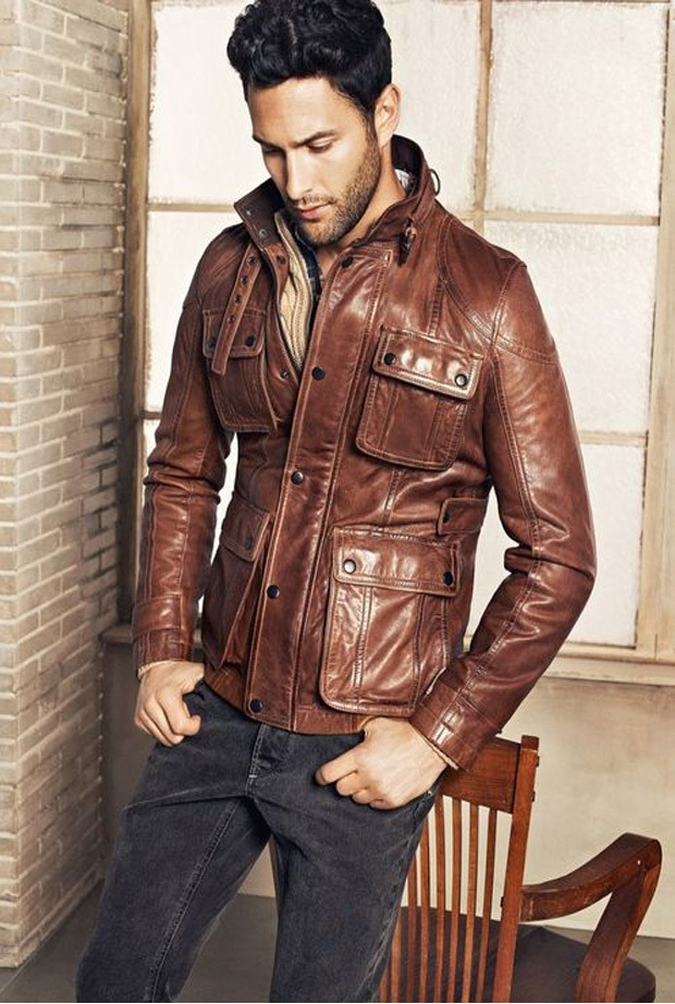 Mens Brown Jacket Photo Album - Reikian