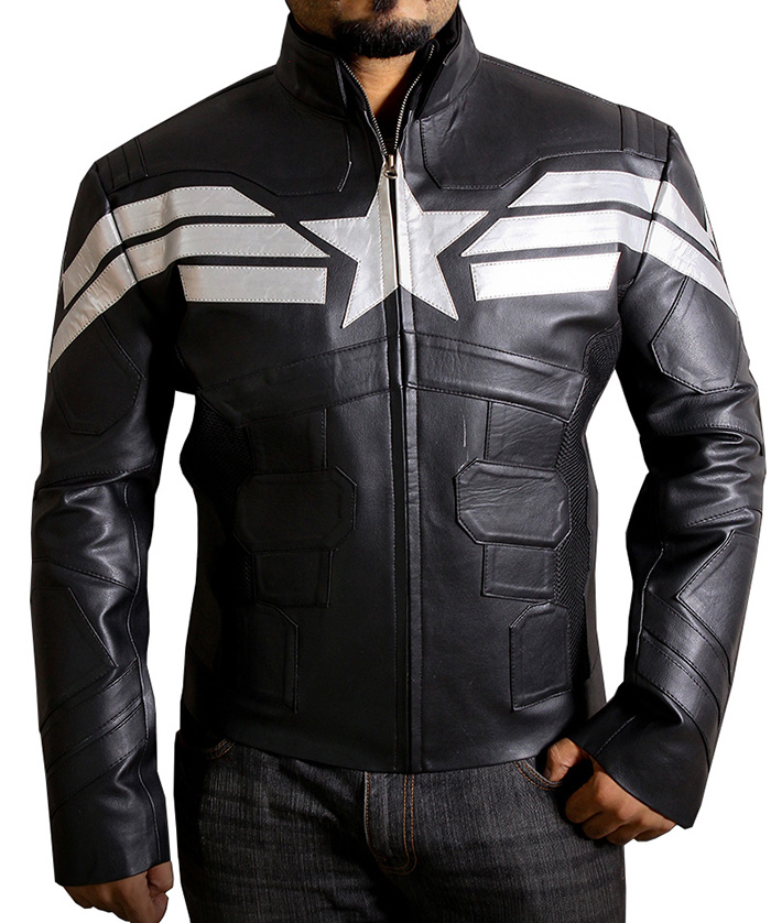 Captain America Leather Jacket Motorcycle