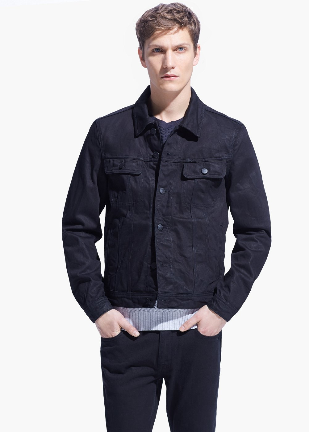 Mens Dark Denim Jacket | Outdoor Jacket