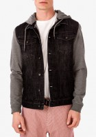 Denim Hooded Jacket Men