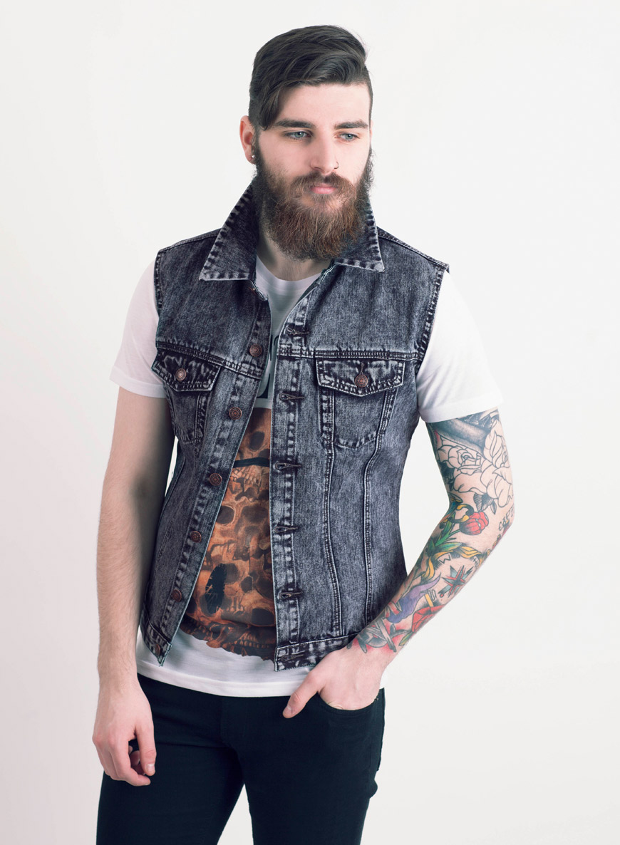 Denim sleeveless jacket – Modern fashion jacket photo blog