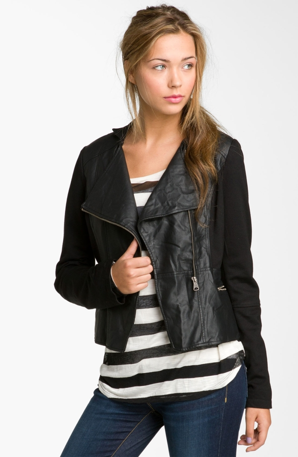 Faux Leather Jackets – Jackets