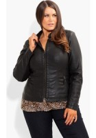 Faux Leather Jacket Plus Size