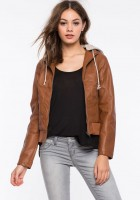 Faux Leather Womens Jacket