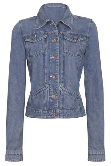 Fitted Jean Jacket For Women - Coat Nj