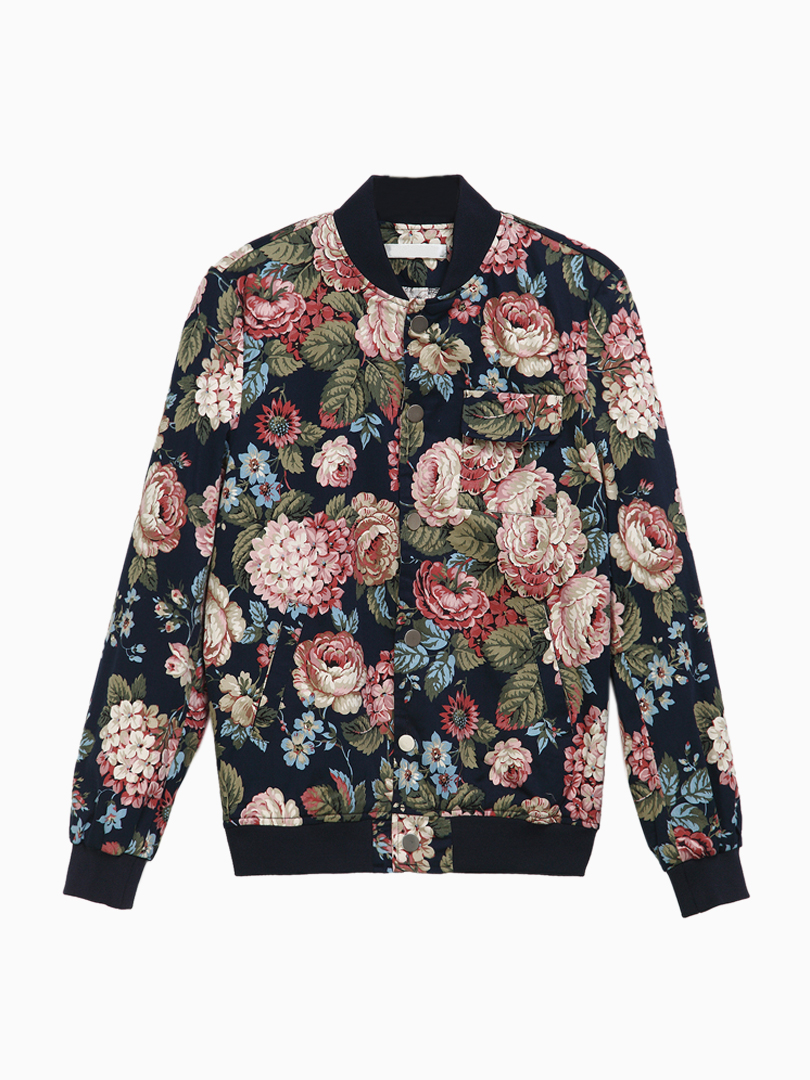 Floral Bomber Jackets  Jackets-6120