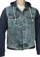 Hooded Denim Jacket Men