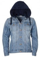 Hooded Denim Jacket Mens