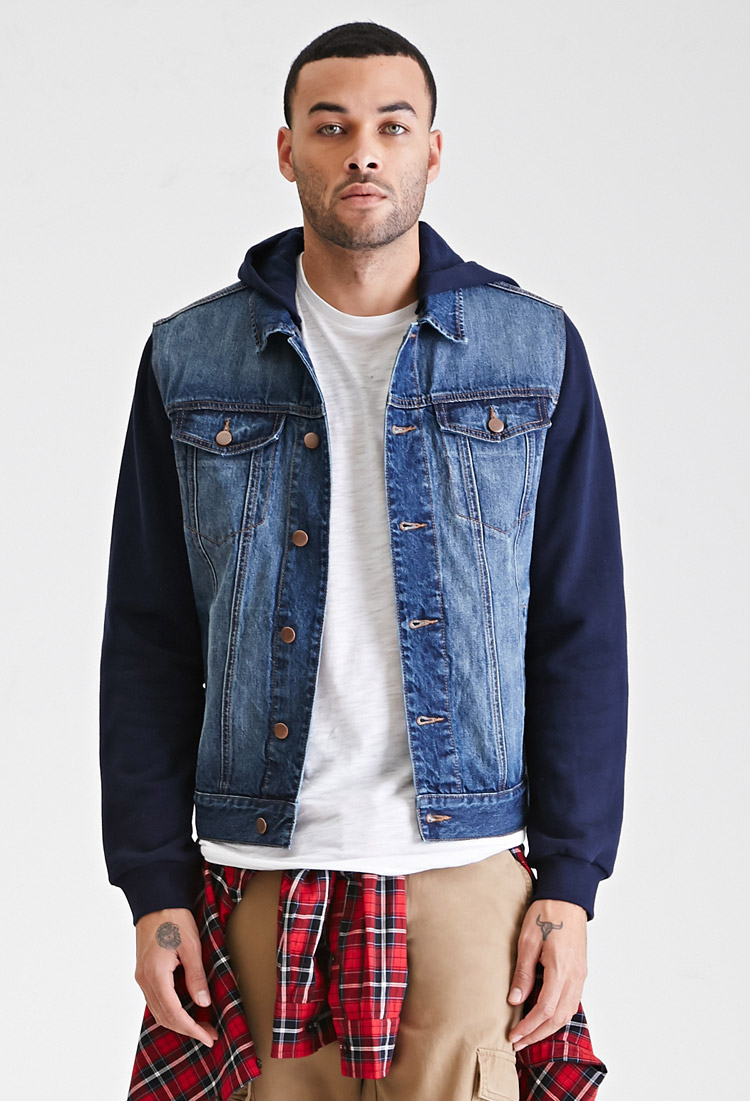 Mens Hooded Jean Jackets