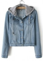 Hooded Denim Jacket Women