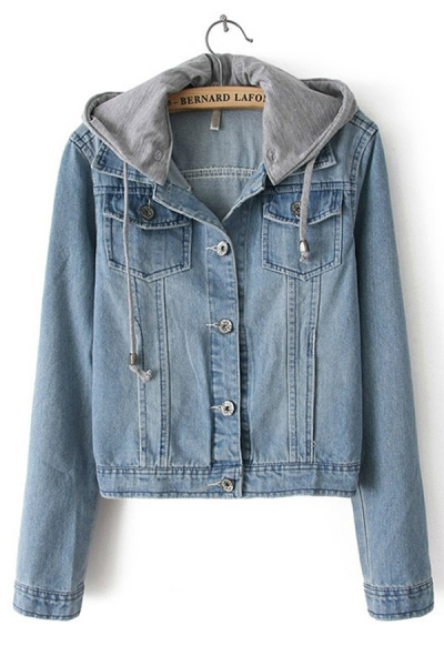 Jean Jacket With Hoodie For Women | Outdoor Jacket