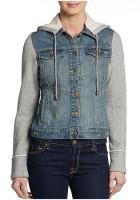 Hooded Jean Jacket for Women