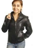 Juniors Black Leather Jacket