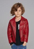 Kids Girls Leather Jacket